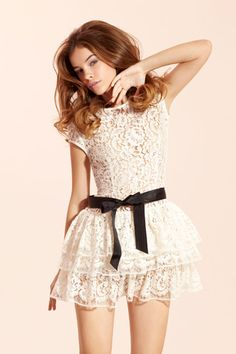 I need a lace dress...and with a bow? Perfect :)