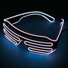 Women's Sunglasses Fast Deliver Fashion Women And Men Flashing Glasses El Wire Led Glasses Halloween Party Eyewear Glow Sunglasses Uv400 Drop Shipping F3 Latest Technology