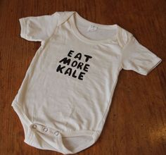 Kiddo's Eat More Kale Organic Onesie