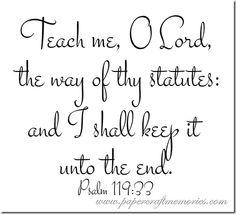 Papercraft Memories: Psalm 119:33 WORDart by Karen for personal use