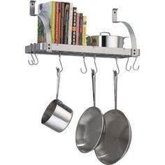 Small space solution! Enclume Bookshelf Pot Rack