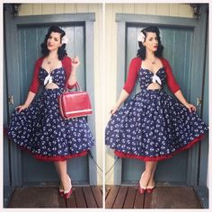 Pinup Girl Clothing Renee Dress - Miss Victory Violet Pin Up Outfits, Chic Outfits, Dress Outfits, Fashion Dresses, 2000s Fashion, Retro Fashion, Vintage Fashion, Vintage Style, Fashion Quiz