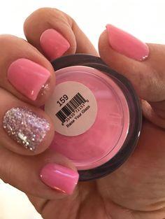 Sns nail colors nail dipping color in 2019 sns nails colors. Dip Nail Colors, Sns Nails Colors, Spring Nail Colors, Nail Polish Colors, Spring Nails, Summer Nails, Coral Pink Nails, Pink Gel Nails, Glitter Nails