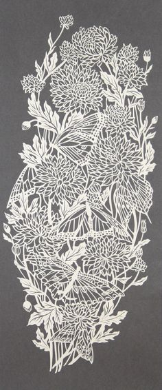 #chrysanthemums papercut                                                                                                                                                      by Pippa Dyrlaga