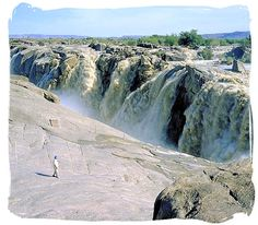 Augrabies Falls National Park,... The Augrabies Falls, second largest in Africa after the Victoria falls