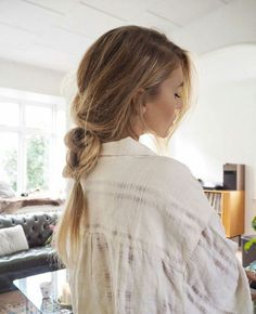 messy loose braid