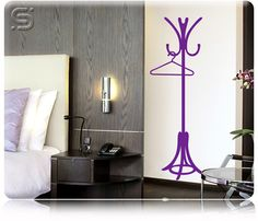 Adesivo Decorativo de Parede  Ilusionista 3D - CABIDEIRO
