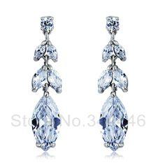 free ship Zircon earrings popular Korean version of the exaggerated retro Austrian crystal earrings $11.00