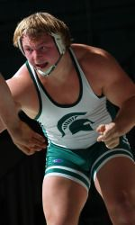 Senior heavyweight Mike McClure defeated Indiana's Adam Chalfant, 3-2, in the fifth-place match Saturday afternoon in the fifth session of the NCAA Wrestling Championships at Chesapeake Energy Center. McClure finishes the season with a 32-9 record and closes his career ranked 17th all-time in Michigan State history with 104 career wins and ninth with 24 falls.