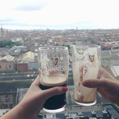 At the Gravity Bar in the Guinness Factory overlooking Dublin.