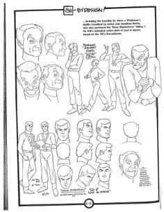 Cartoon Concept Design: Alex Toth Bionic 6 Model Sheets