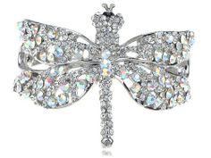 Funky Fresh Clear Crystal Prism Crystal Rhinestone Cuff On Dragonfly Bracelet Alilang Online Shopping click on Amazon here http://www.amazon.com/dp/B004YFFLD8/ref=cm_sw_r_pi_dp_i4HOtb1PWDDTNBSC