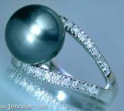 Attraktiver Tahitiperle Brillanten Ring image