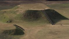 Etowah Indian mounds in Georgia as seen from the air. From Aerial America: Georgia