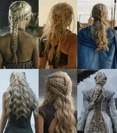 Daenerys' hair evolution by her conquests Game of Thrones in hair cutting and styling games online - Hair Cutting Style Pretty Hairstyles, Braided Hairstyles, Wedding Hairstyles, Medieval Hairstyles, Fantasy Hairstyles, Hairstyles Games, Hairstyles Videos, Hair Dos, My Hair