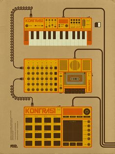 Kontrast - Audiovisual Electronic Music Event by Michael John | Colorcubic at Coroflot.com