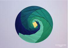 Modern Iris Paper Folding Art