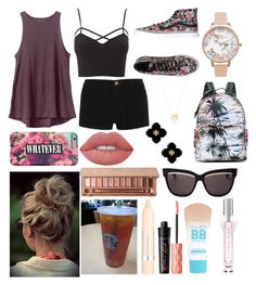 """""""Hey"""" by hailey1011 ❤ liked on Polyvore featuring RVCA, Olivia Burton, Valentino, Current/Elliott, Charlotte Russe, Vans, Joolz by Martha Calvo, Lime Crime, Christian Dior and Urban Decay"""