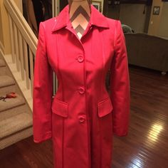 Banana republic coat Banana republic pink coat can be worn all year 100% cotton with ribbon trim xsmall nwot Banana Republic Jackets & Coats Trench Coats