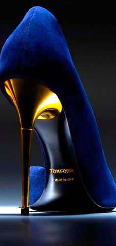 Tom Ford ~ Blue Suede Pumps w Gold Slim Heels. NEW - LIFE SOLUTIONS We have Pins with Travel-Vacations,Jewelry,Fashions,Healthy,Barber,Beauty,Wellness,Beautyfull Eyes Pictures,Watches,Home- Garden Ideas,Jobs,Art,Bikes,Cars,ZeroEnery,Designers,Architects,Houses.View the boards and will be is our Pinterest-friend, have a lot of fun.