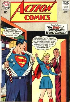 Episode Superman Comic Book Cover Dated June Action Comics Old Superman, Superman Action Comics, Superman Comic Books, Old Comic Books, Vintage Comic Books, Dc Comics Art, Comic Book Covers, Comic Book Characters, Vintage Comics