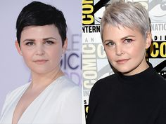 Ginnifer Goodwin with gray hair