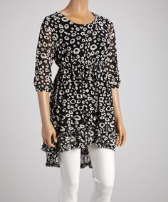 Look what I found on #zulily! Black & White Circles Tunic - Women by Lady Noiz #zulilyfinds
