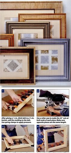 Building Picture Frames - Woodworking Plans and Projects | WoodArchivist.com