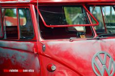 Queen Of Hearts, VW Bus, VW Van, Hot Rod Photography, Car Art by bluerainimages on Etsy