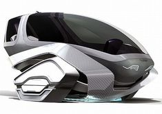 Future Transportation - Speedway Concept Moves Magnetically, Draws Power From The Road psipunk.com