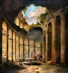 Hubert Robert : le Colisée de Rome.