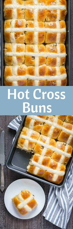 Fluffy, sweet Hot Cross Buns are an Easter delight! This recipe yields tender, pillowy rolls that are spiced with orange zest, cinnamon, and cardamom. via /introvertbaker/