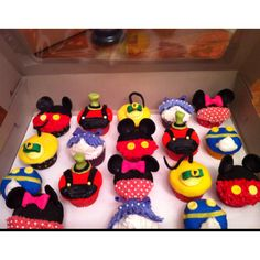 Mickey mouse club house cup cakes
