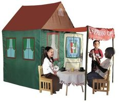 Time to Play Le Espresso Cafe Coffeehouse Play Tent