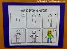 Teach the kids how to draw a person the first week of school to ...