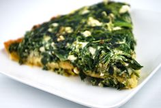 """runningwithredcurls: """"  Spinach and Feta Pie with Chickpea Flour Crust This pie makes a fabulous breakfast, lunch or dinner, and it's just as good cold at it is hot. Which is really, really good! • 1 cup chickpea flour (also called garbanzo bean..."""