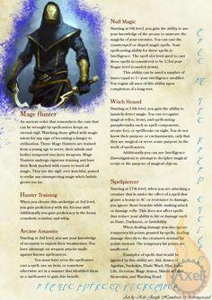 Rouge archetype: Mage hunter