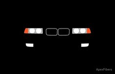 1991-1999 BMW 3 Series (E36) Kidney grill and headlights