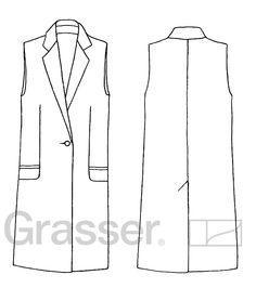 Выкройка пальто-жилета, модель 168, магазин выкроек grasser.ru