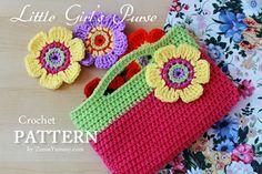 Little+Girl+Crochet+Patterns+Free | New Pattern – Little Girl's Crochet Purse « Crochet « Zoom Yummy ... ༺✿ƬⱤღ  https://www.pinterest.com/teretegui/✿༻