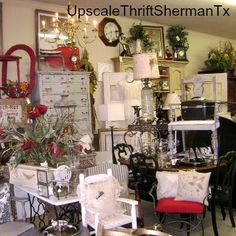 Refurbished dressers and chairs are among some of the finds that make up the remarkable relics of Upscale Thrift Sherman Tx.