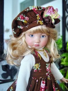 Corduroy Jumper fits Effner 13 Little Darling; 5pc. Little Charmers Doll Designs