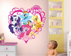 My Little Ponies Heart  sc 1 st  Pinterest & GIRLS NAME Bedroom Wall Art Decal/Sticker My Little Pony Friendship ...