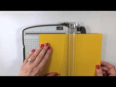 ▶ Simply Simple 2-MINUTE TUESDAY TIP - Basics of Scoring & Cutting Cards by Connie Stewart - YouTube