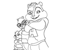alvin and the chipmunks who was posing coloring pages for kids printable alvin and the chipmunks coloring pages for kids