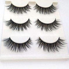 ae7176bde5c Trcoveric Fake Eyelashes Makeup Hand-made Dramatic Thick Crisscross Deluxe  False Lashes Black Nature Fluffy Long Soft Reusable 3 Pair Pack *** Visit  the ...