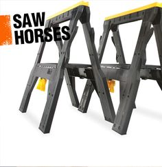 A saw horse is a handy item to have around a workshop. It's a beam with four legs that makes it easy to support projects.