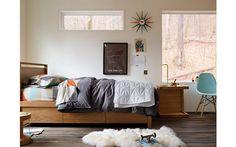 DWR bedroom w Pixo LED Table Lamp