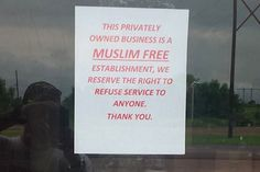"An #Oklahoma Gun Range Owner Has Declared a ""Muslim-Free Zone""  http://www.doamuslims.org/?p=4435  #Islam #Muslims #Islamophobia #America"