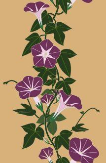 Iki-ya Japanese traditional patterns and traditional color Japanese Patterns, Japanese Prints, Japanese Design, Japanese Art, Exotic Flowers, Beautiful Flowers, Morning Glory Flowers, Illustration Blume, Japanese Symbol
